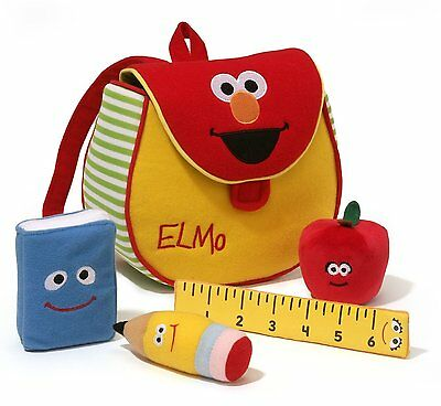 Sesame Street - Elmo's Backpack Playset by Gund - *BRAND NEW*
