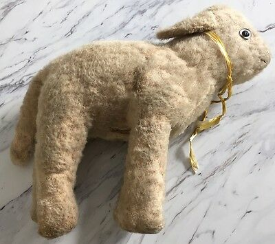 Antique 1920's MERRYTHOUGHT Original Label Collectible Lamb Made In England