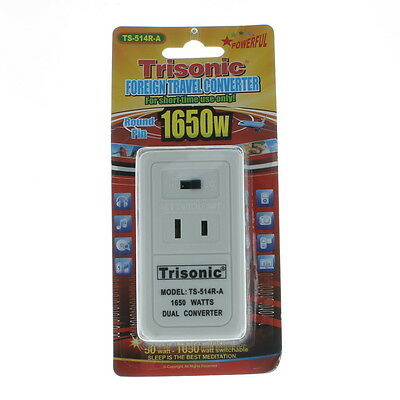Trisonic 50W/1650W Foreign Travel Converter Round Pin TS-514R-A