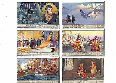 Marco Polo.Liebig set F1430.Issued 1941.Full set of 6.