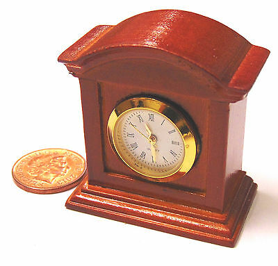 1:12 Scale WORKING Battery Operated Wooden Clock Dolls House Miniature Accessory