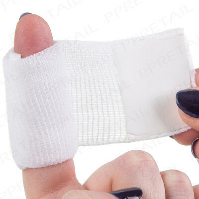 STERILE Finger Dressing + Bandage 3.5cm SQUARE PAD First Aid Cut/Wound APPROVED