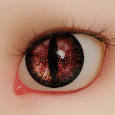 [Dollmore] 1/4 1/3 BJD 14mm - OMeta Half Round Acrylic Eyes (Red 04)