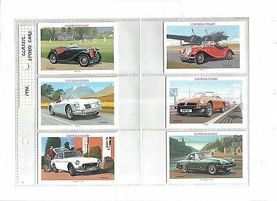 Wills Castella Classic Sports Cars.Issued 1996.Full set of 30 in sleeves