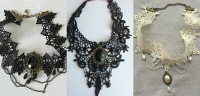 Lace Gothic Retro Necklace Choker Victorian Steampunk Style