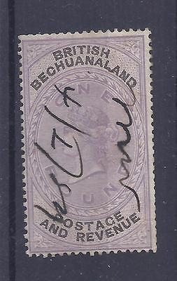 British Bechuanaland, Qv, £1 Sg 20 Fiscally Used. Cat £800 If Normally Used