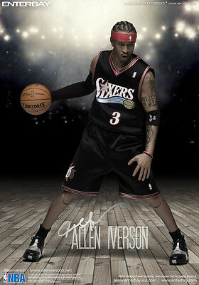 ALLEN IVERSON - 1/6th Scale Real Masterpiece NBA Figure (Enterbay) #NEW