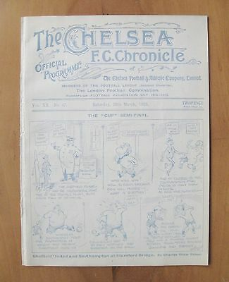 1925 FA Cup Semi-Final SHEFFIELD UNITED v SOUTHAMPTON @ CHELSEA *Exc Condition*