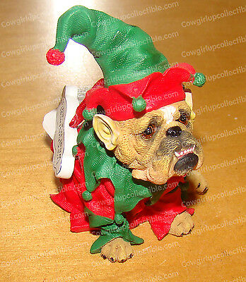 It's Christmas...What the Elf Ornament (Zelda Wisdom by Westland, 4879) Bulldog