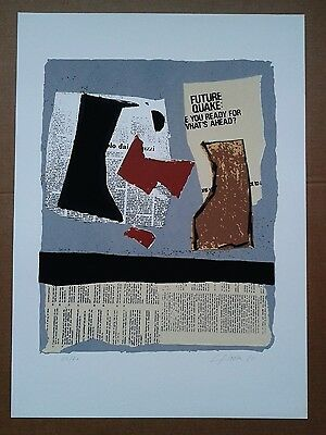 1980 ORIGINAL SIGNED ABSTRACT PRINT LITHOGRAPH limited edition of 70