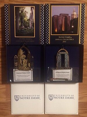 New In Box ,2011,2013 Notre Dame Christmas Ornament