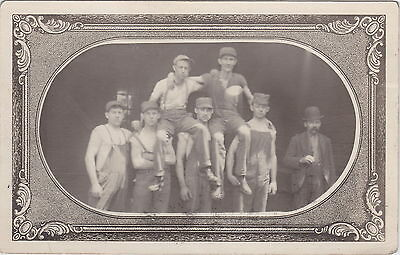 US OH Fostoria Berwick OH RPPC 1911 WORKERS 2 THE OLD GANG FROM THE PLANT WORKS!