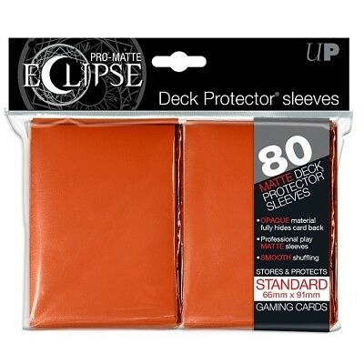 Ultra PRO 80 Pro Matte Eclipse Standard Deck Protector Card Sleeves Orange MTG