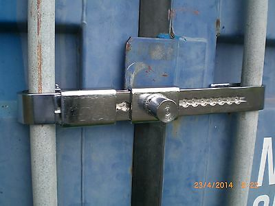 Shipping Container Barrier Lock, adjustable, keyed alike or separately