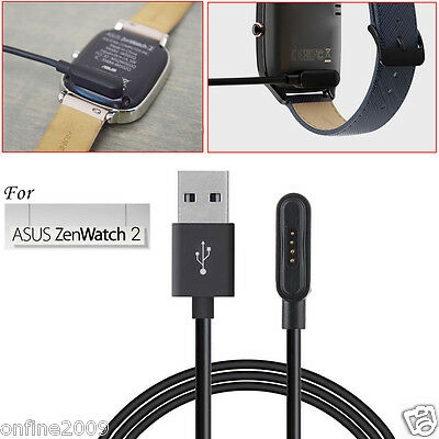 For ASUS ZenWatch 2 Smart Watch USB Magnetic Faster Charging Cable Charger