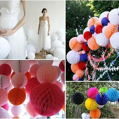 1 PC  Honeycomb Paper Tissue Balls Vintage Wedding Party Hanging Decor Pom Poms