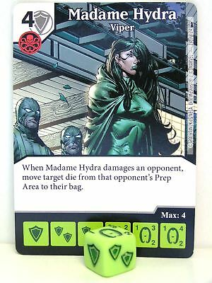 DICE MASTERS DEADPOOL COMMON #24 MADAME HYDRA VIPER CARD /& DICE
