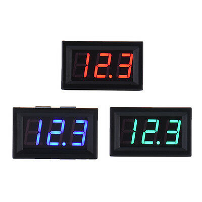 New Mini DC 5-30V Voltmeter LED Panel 3-Digital Display Voltage Meter 2-wire
