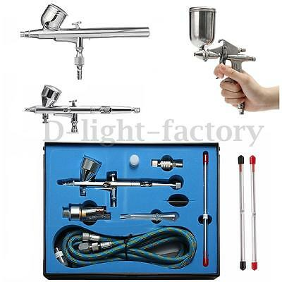 Airbrush Spray Gun Dual Action Gravity Air Brush Craft Tattoo 0.2/0.3/0.4/0.5mm