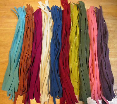 RAINBOW MIX 150 Hand and Mill dyed  #8 Rug Hooking Wool Strips