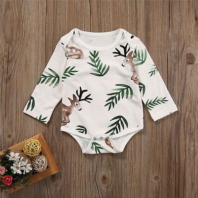 Newborn Baby Girls Boys Kids Rompers Bodysuit Jumpsuit Outfits Playsuit Clothes