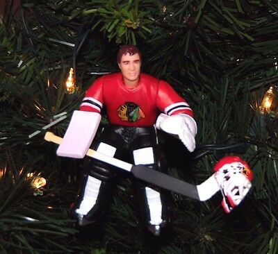 ed BELFOUR chicago BLACKHAWKS hockey NHL christmas TREE ornament HOLIDAY