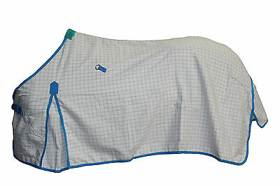 Axiom Polycotton Blue Ripstop Unlined Horse Rug 5'9