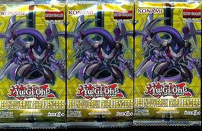 Yu Gi Oh! 3 Boosters Les Nouveaux Challengers