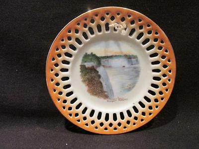 Prospect Point Niagara Falls NY Vintage Victoria China Austria Reticulated Plate
