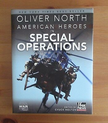 signed SPECIAL FORCES OLIVER NORTH BOOK WOT