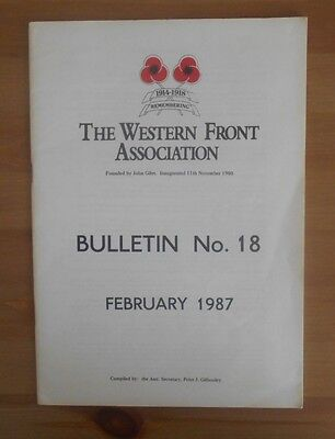 old 1987 WESTERN FRONT ASSOCIATION BULLETIN NO. 18