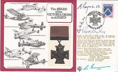 DM3 Award Victoria Cross to Airman Signed K Payne plus 3  VC's holders