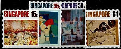 SINGAPORE Sc.# 153-56 Paintings Stamps