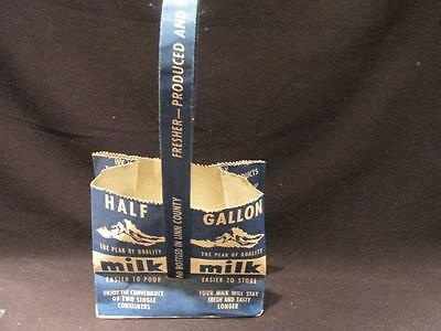 Snow Peak Dairy Vintage Half Gallon Paper Carrying Bag Albany's Own Modern Dairy