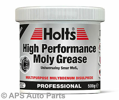 Holts High Performance Moly Grease Multipurpose 500g Anti Wear Rust Protects