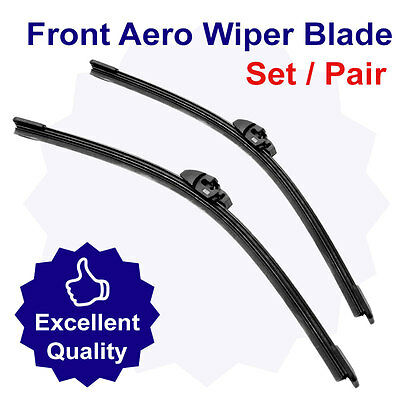 Premium Direct Fit Front Wiper Blade Set + Ready To Use Screenwash