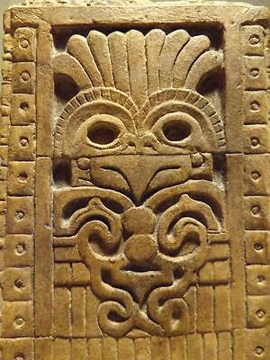 Mayan art / Teotihuacan relief of Quetzalpapalotl or Spear thrower owl.Pre-Aztec