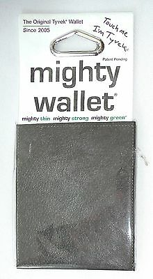 Dynomighty BLACK LEATHER PRINT Tyvek DY-600 Super Thin Mighty Wallet >NEW<