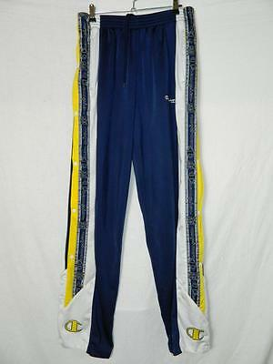 VINTAGE 90s RETRO CHAMPION POPPER TRACKSUIT BOTTOMS / PANTS
