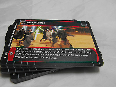 Star Wars Tcg Jedi Guardians Complete Set Of Common Cards