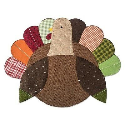 Set of 4 DII Thanksgiving Turkey Embroidered Placemats + 5 tablecloths *NEW*
