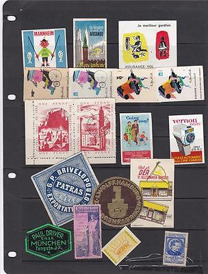 A Very Nice Lot Of All World Cinderellas Postage Labels Poster Stamps 15*