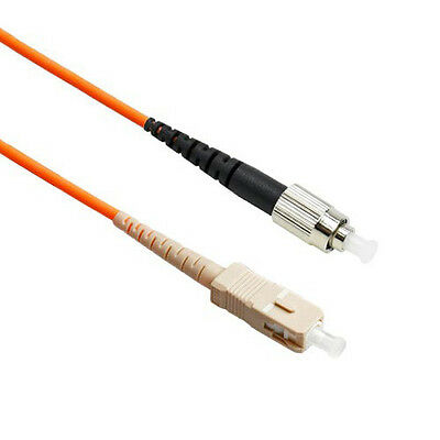 FiberTool Simplex MM FC to SC Patch Cable 50/125 Fiber Optic Jumper, 1 Meter