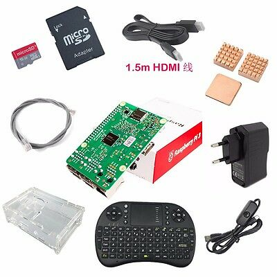 Raspberry Pi 3 Model B 1GB RAM Quad Core 1.2GHz CPU XBMC KODI OSMC Starter Kit
