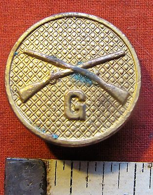 Pre WW2 1920s US ARMY ENLISTED GILTED INFANTRY COLLAR INSIGNIA G COMPANY