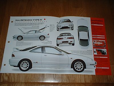 ★★1997 Acura Integra Type R Spec Sheet Brochure Poster Print Photo 97 98 94-01★★