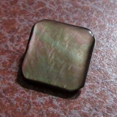 Antique Vintage Square Gray Shell MOP Pearl Button