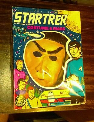 1975 Ben Cooper Star Trek Mr Spock Medium Halloween Costume