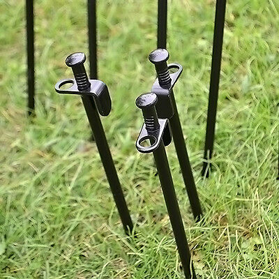 Heavy Duty Camping Black Steel Metal Tent Canopy Stakes Pegs Ground Nail
