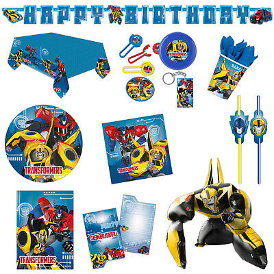 Transformers Robots In Disguise Birthday Party Plates Napkins Tableware Listing